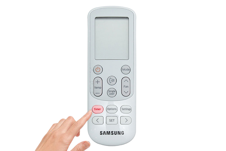 Bấm nút Timer để điều chỉnh chế độ